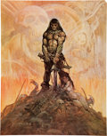 "Memorabilia:Poster, Frank Frazetta Art Print #40 ""The Barbarian"" (undated).. ..."