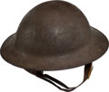 Military & Patriotic:WWI, U.S. WWI Helmet With the Remnants of a 7th Division Insignia....