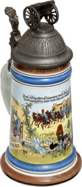 Military & Patriotic:WWI, Reproduction WWI Artillery Regimental Reservist Stein....