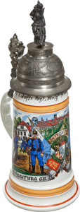 Military & Patriotic:WWI, Reproduction WWI Bavarian Infantry Regimental Reservist Stein....