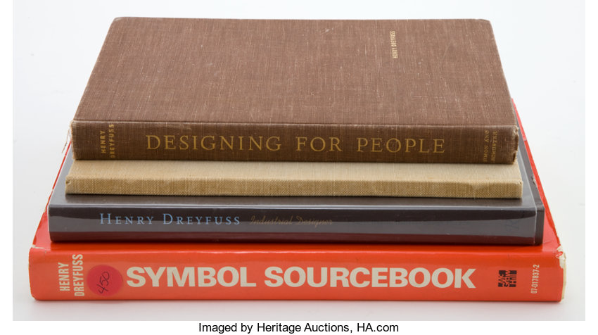 A Group Of Four Henry Dreyfuss Design Books Total 4 Items