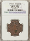 Colonials, 1788 1C Massachusetts Cent, No Period--Rim Damage NGC Details.Fine. NGC Census: (0/0). PCGS Population (0/2). (#293)...