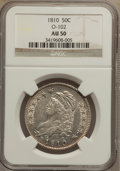 Bust Half Dollars: , 1810 50C AU50 NGC. O-102. NGC Census: (42/331). PCGS Population(57/238). Mintage: 1,276,276. Numismedia Wsl. Price for pr...