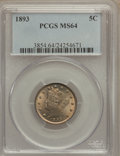Liberty Nickels: , 1893 5C MS64 PCGS. PCGS Population (198/89). NGC Census: (172/91).Mintage: 13,370,195. Numismedia Wsl. Price for problem f...