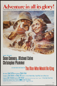 """The Man Who Would Be King (Columbia, 1975). One Sheet (27"""" X 41""""). Flat Folded. Adventure"""