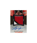 Basketball Cards:Singles (1980-Now), 2006 Upper Deck Exquisite Michael Jordan Signed Game Used Jersey Swatch Card - #'d 29 of 50. ...