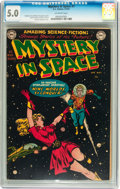 Golden Age (1938-1955):Science Fiction, Mystery in Space #1 (DC, 1951) CGC VG/FN 5.0 Off-white pages....