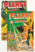 Golden Age (1938-1955):Science Fiction, Planet Comics #59 and 64 Group (Fiction House, 1948-50) Condition:Average VG+.... (Total: 2 Comic Books)