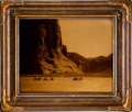 "Photography, Edward S. Curtis, Photographer. ""Canyon de Chelly"" Vintage Goldtone in Original Frame. ..."