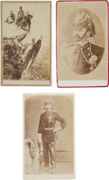 Photography:CDVs, Miles Keogh: The Personal Carte de Visite Album of this Key Little Bighorn Character, Including Three Scarce Image...