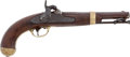 Handguns:Muzzle loading, U.S. Model 1842 Smoothbore Percussion Single Shot Pistol H. Aston 1849...