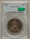 Seated Half Dollars: , 1841 50C XF45 PCGS. CAC. PCGS Population (10/52). NGC Census:(4/50). Mintage: 310,000. Numismedia Wsl. Price for problem f...