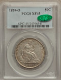 Seated Half Dollars: , 1859-O 50C XF45 PCGS. CAC. PCGS Population (42/143). NGC Census:(16/110). Mintage: 2,834,000. Numismedia Wsl. Price for pr...