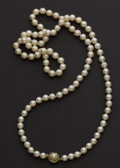 Estate Jewelry:Pearls, Cultured Pearl & Gold Necklace. ...