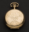 Timepieces:Pocket (post 1900), Elgin 14k Gold 17 Jewel Hunter's Case Pocket Watch. ...
