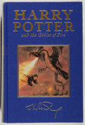 Books:Fiction, J. K. Rowling. Harry Potter and the Goblet of Fire. London:Bloomsbury, 2000. Deluxe first edition still in the publisher's ...