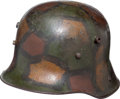 Military & Patriotic:WWI, WWI German Model 1916 Camouflage Helmet....