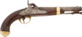 Handguns:Muzzle loading, U.S. Model 1842 Single Shot Percussion Pistol by I. N. Johnson,Dated 1855....