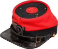 "Military & Patriotic:Civil War, Rare and Colorful Chasseur Cap Worn by New York's Famed ""14th Brooklyn.""..."