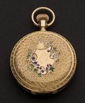 Timepieces:Pocket (post 1900), Elgin 14k Gold Hunter's Case Pocket Watch. ...