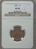Indian Cents: , 1861 1C AU58 NGC. NGC Census: (110/1388). PCGS Population (80/952).Mintage: 10,100,000. Numismedia Wsl. Price for problem ...