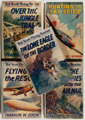 Books:Children's Books, Franklin W. Dixon. Five Volumes of Ted Scott Flying Stories,including: Over the Rockies with the Air Mail; The Lone Eag...(Total: 5 Items)