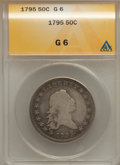 Early Half Dollars, 1795 50C 2 Leaves Good 6 ANACS. O-105, High R.3....