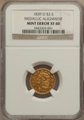 Classic Quarter Eagles, 1839-O $2 1/2 -- Medallic Alignment -- XF40 NGC. Low Date, Close Fraction, Breen-6153, Variety-28, R.4....