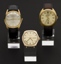 Timepieces:Wristwatch, Philippe Tuillard & Lucien Piccard & Philippe Corday Automatics All Runners. ... (Total: 3 Items)