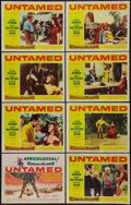 """Movie Posters:Adventure, Untamed (20th Century Fox, 1955). Lobby Card Set of 8 (11"""" X 14"""").Adventure.. ... (Total: 8 Items)"""