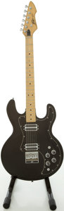Musical Instruments:Electric Guitars, 1981 Peavey T-60 Black Solid Body Electric Guitar, Serial #00947236....
