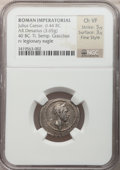 Ancients:Roman Republic, Ancients: Divus Julius Caesar (died 44 BC). AR denarius (18mm, 3.65 gm, 3h). ...