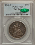 Seated Half Dollars, 1846-O 50C Tall Date VF30 PCGS. CAC....