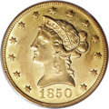 Liberty Eagles, 1850-O $10 AU50 PCGS....