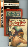 Pulps:Detective, Detective Pulps Group (Miscellaneous Publishers, 1925-33)....