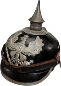 Military & Patriotic:WWI, WWI Prussian Model 1915 Enlisted Spiked Helmet(Pickelhaube)....