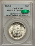 Commemorative Silver: , 1949-D 50C Booker T. Washington MS66 PCGS. CAC. PCGS Population(245/14). NGC Census: (211/20). Mintage: 6,004. Numismedia ...