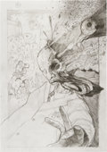 Original Comic Art:Miscellaneous, Simon Bisley Panel Page 9 Preliminary Sketch Original Art(undated)....