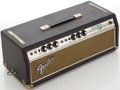 Musical Instruments:Amplifiers, PA, & Effects, Late 1960s-Early 1970s Fender Bassman Silverface Black Guitar Amplifier Head, Serial # A41086....