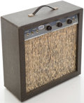 Musical Instruments:Amplifiers, PA, & Effects, 1960s Marvel Gray Guitar Amplifier, Serial # 10139....