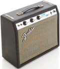 Musical Instruments:Amplifiers, PA, & Effects, Early 1970s Fender Champ Silverface Black Guitar Amplifier, Serial# A18941....