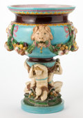 Ceramics & Porcelain, A MINTON MAJOLICA PEDESTAL JARDINIÈRE . Designed by Albert-Ernest Carriere-Belleuse (French, 1824-1887). Manufactured by Min...