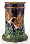 Ceramics & Porcelain, A FIELDING MAJOLICA STICK STAND . S. Fielding and Company, Stoke-on-Trent, Staffordshire, England, circa 1880. Unmarked . 20...