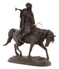 Sculpture, A EVGENY ALEXANDROVICH LANCERAY (RUSSIAN, 1848-1886) PATINATED FIGURAL BRONZE: ARAB ON HORSEBACK. Cast by F. Chopin,...