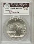 Modern Issues, 1986-P $1 Statue of Liberty Silver Dollar MS69 PCGS. Ex: Signatureof John M. Mercanti, 12th Chief Engraver of the U.S. Min...