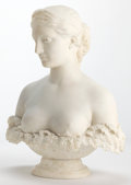 Marble:American, AN ITALIAN MARBLE BUST: PROSERPINE . Attributed to HiramPowers (American, 1805-1873) Florence, Italy, modeled 1844...