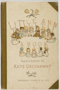 Books:Children's Books, [Kate Greenaway, illustrator]. Jane and Ann Taylor. Little Annand Other Poems. London: Warne, [n.d., ca. 1882]....