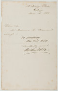 Autographs:Authors, [Henry] Austin Dobson (British Poet, 1840-1921). Autograph NoteSigned. Approximately 7 x 4.5 inches. A few creases, some to...