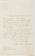 Autographs:Authors, George William Curtis (American Writer, 1824-1892). Autograph Letter Signed. Approximately 7.25 x 4.5 inches. Toned, a few c...
