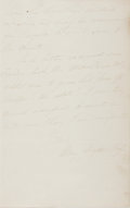 Autographs:Authors, Mary Mapes Dodge (American Children's Writer, 1831-1905). Autograph Letter Signed. Two octavo pages on one quarto sheet. App...